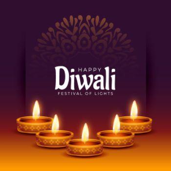 religious diwali stylish banner festival background