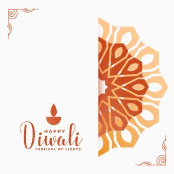 happy diwali decoration wishes card design