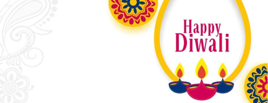 indian style happy diwali web header banner