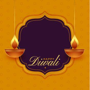 religious happy diwali wishes card design