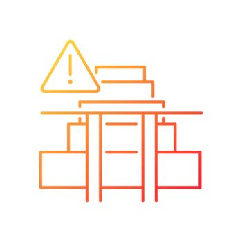 Stairway safety gates gradient linear vector icon