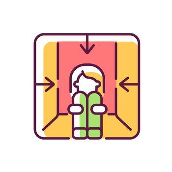 Claustrophobia RGB color icon