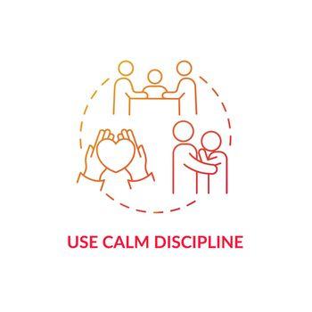 Use calm discipline concept icon