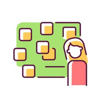 Derealization RGB color icon