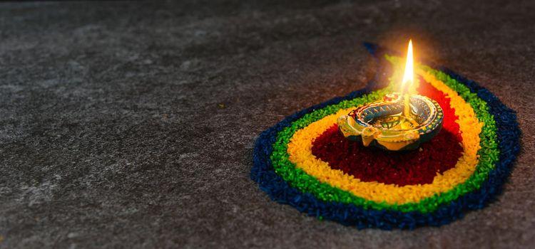 Happy celebration Deepavali, or Diwali Indian festival