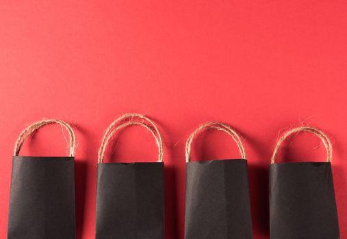 Black shopping bags