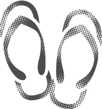 Halftone Icon - Slipper sandal