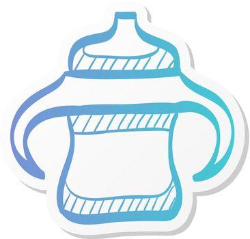 Sticker style icon - Milk bottle
