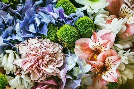 Festive bouquet of assorted flowers