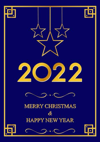 2022. Happy New Year. Background with a congratulatory inscription for Christmas and new year. Vector illustration.