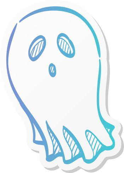 Sticker style icon - Halloween ghost