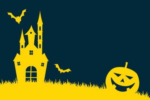 halloween background in flat colors