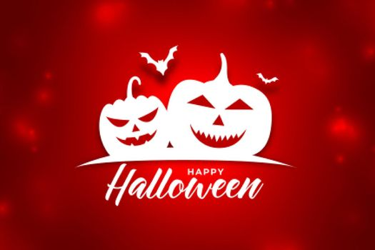 shiny red background with halloween pumpkins