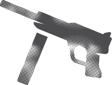 Halftone Icon - Vintage Firearm