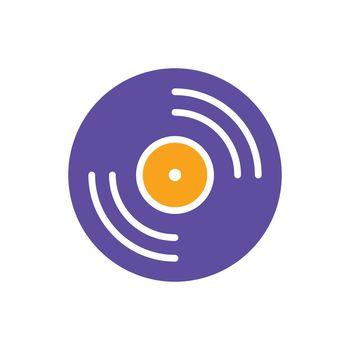Vinyl record, lp record vector glyph icon