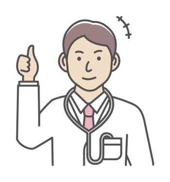 Young male doctor gesture variation illustration | thumb up, OK