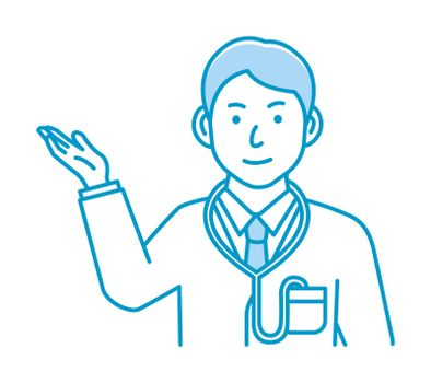 Young male doctor gesture variation illustration | navigate, recommend