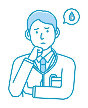 Young male doctor gesture variation illustration | upset, unhappy