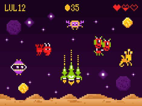 Arcade Game Interface Composition