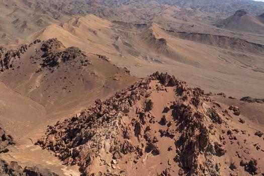 Arid desert and strange stones.