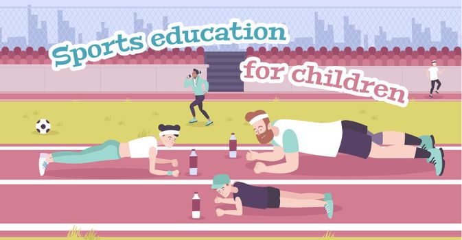 Parenting In Sports Flat Background