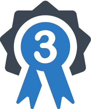 Third place badge icon