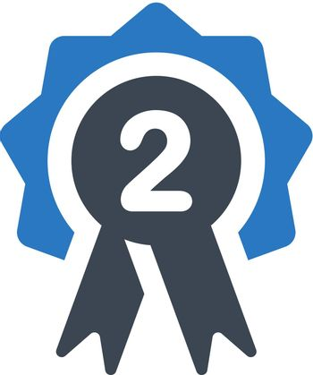 Second place badge icon