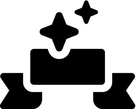 Banner ribbon icon