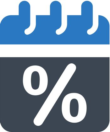Discount offer schedule icon