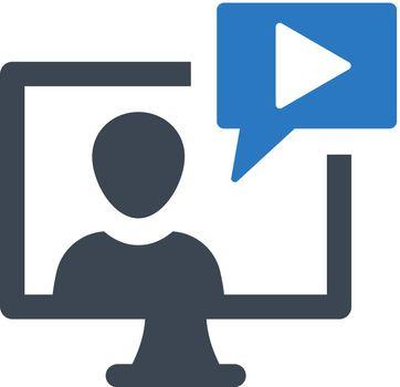 Video vlog icon