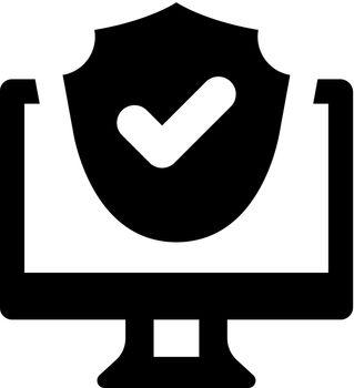 Laptop protection icon