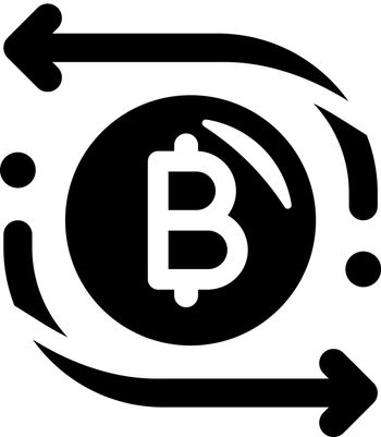 Cryptocurrency transaction icon