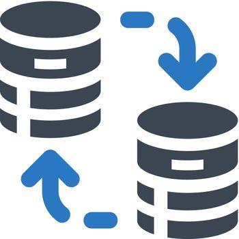 Database transfer icon