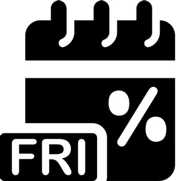 Black friday discount offer icon