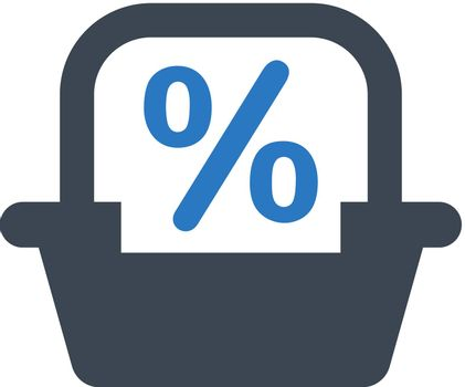 Shopping discount offer icon