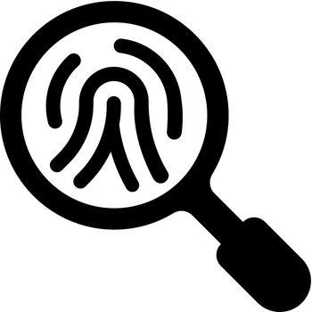 Fingerprint identification icon