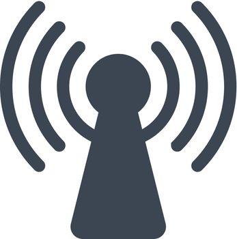 Wireless antenna icon