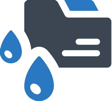 Data leaking icon