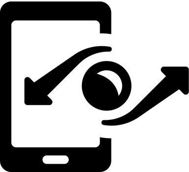 Mobile money transaction icon