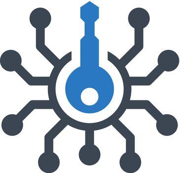 Cyber lock icon