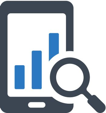 Mobile research icon