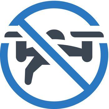 Drone forbidden icon. Vector EPS file.