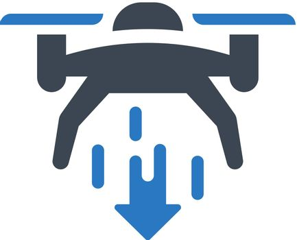 Drone lower down icon. Vector EPS file.