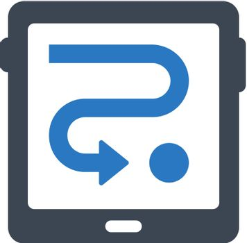 Tablet direction icon. Vector EPS file.