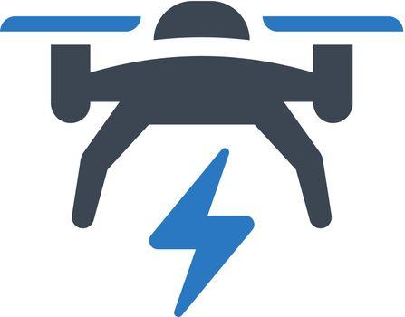 Drone power icon. Vector EPS file.