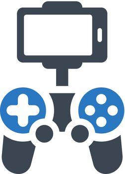 Drone mobile control icon. Vector EPS file.