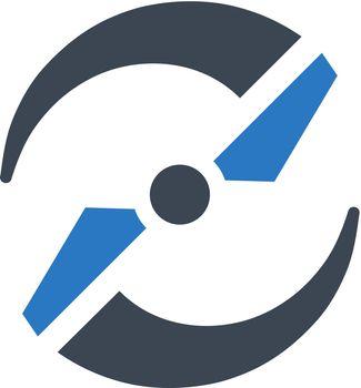 Drone propeller icon. Vector EPS file.