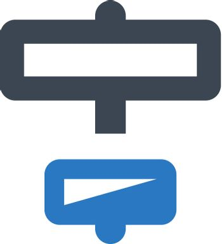 Horizontal align objects icon