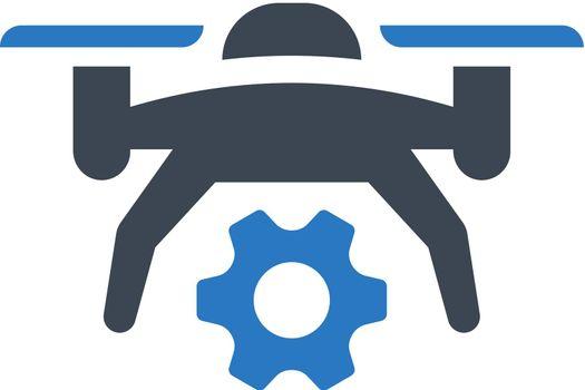 Drone maintenance icon. Vector EPS file.