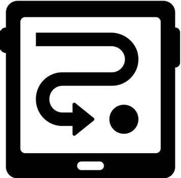 Tablet direction icon